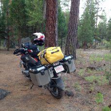 John's bike at Rush Creek CG