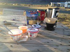 Summer Lake breakfast