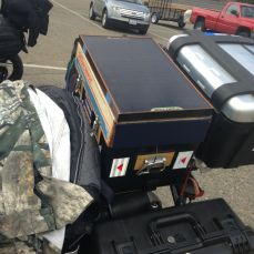 Dale Au's top box with solar panel