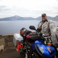 Chris at Crater Lake